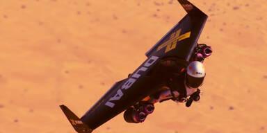 Irrer Jetman fliegt über Dubai!