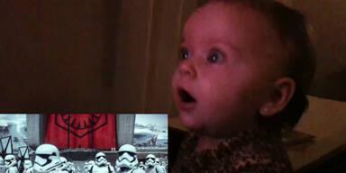 Babys verzückt von neuem Starwars-Trailer!