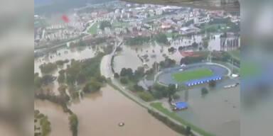 Hochwasser in Kroatien und Serbien