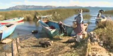 Wetter extrem: Titicaca-See 'läuft' über