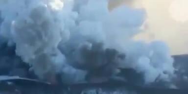 Vulkan nach 36 Jahren wieder ausgebrochen