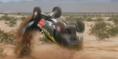 Rallyeauto fährt nach Salto einfach weiter