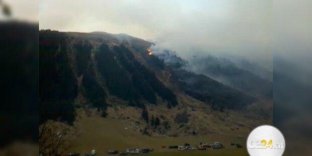 Riesiger Waldbrand wütet in Tirol