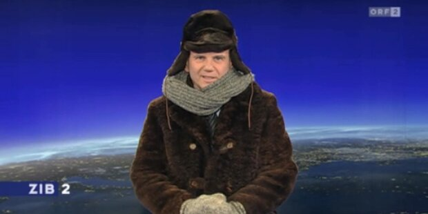 ZiB-Star Wolf trotzt der Bibber-Kälte
