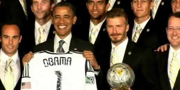 US-Präsident Obama neckte alten Beckham