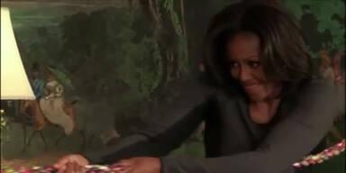 Michelle Obama turnt durchs Weiße Haus