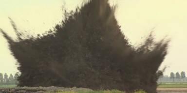 Weltkriegsbombe am Flughafen gesprengt