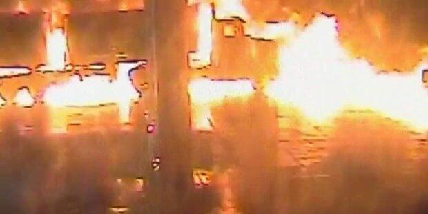 Tanklastzug geht plötzlich in Flammen auf