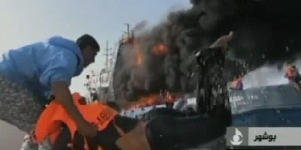 In letzter Sekunde: Rettung von brennendem Tanker