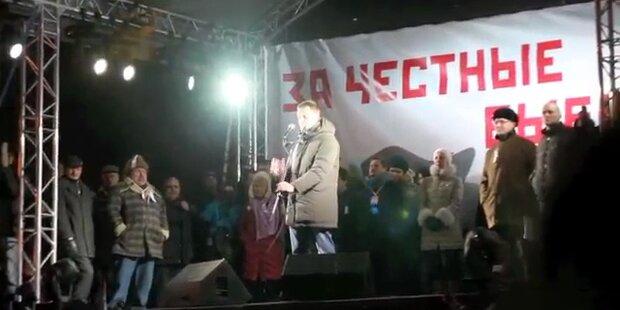 Hunderte Festnahmen bei Demo in Russland