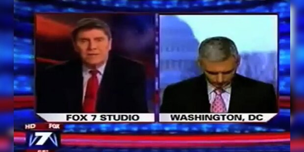 Reporter verpennt Live-Zuschaltung