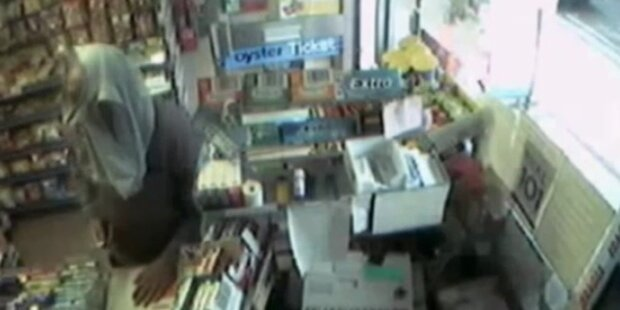 Dieb überfällt Laden mit Unterhose über'm Kopf