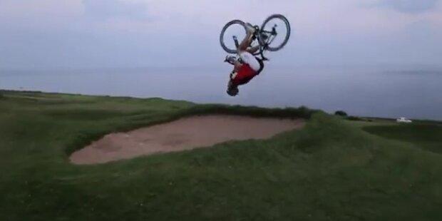 Engländer zeigt gefährliche Bike-Stunts