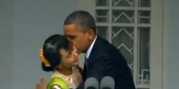 Aung Suu Kyi trifft Obama
