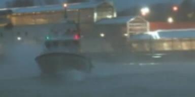 In den USA: Sturm, Regen und Schnee