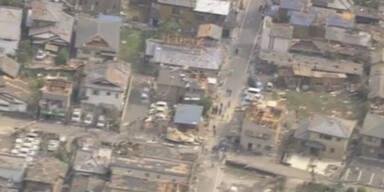 Tornado verwüstet Stadt in Japan