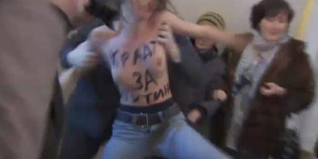 Nackt-Protest: Oben ohne gegen Putin