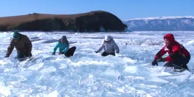 Eine Jam-Session auf gefrorenem See