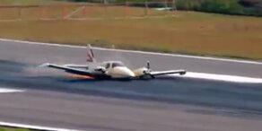 Notlandung: Flugzeug in Kolumbien