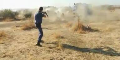 Polizei stürmt Demo von Minenarbeitern: 30 Tote