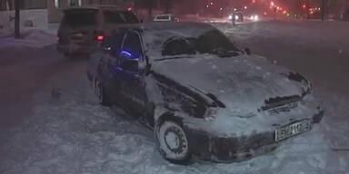 Innenstadt von Kiew wird zur Ski Piste