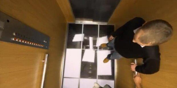 LG lässt Fahrstuhl Boden einkrachen