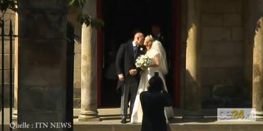 Lieblingsenkelin der Queen heiratet Rugby-Star