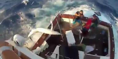 Australische Fischer gegen Fächerfisch
