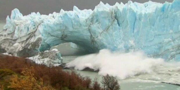 Gletscherabbruch in Argentinien