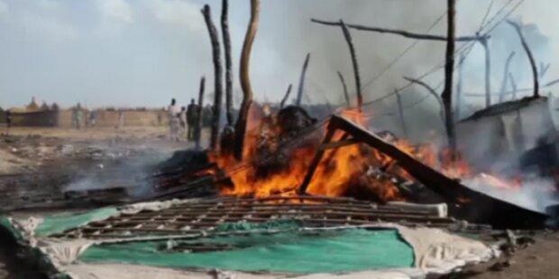 Kampf um Ölfelder mit tödlichen Luftschlag