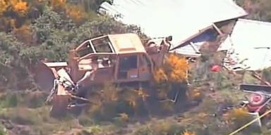 Nachbar rastet aus: Amokfahrt mit Bulldozer