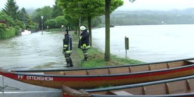 OÖ: Schärding versinkt im Hochwasser