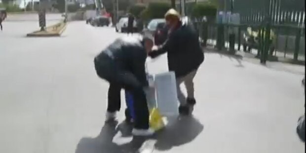 Sanitäter lässt Spenderherz auf die Straße fallen