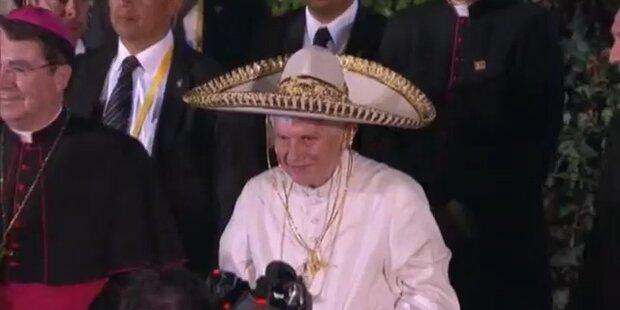 Mexico: Der Papst trägt jetzt Sombrero