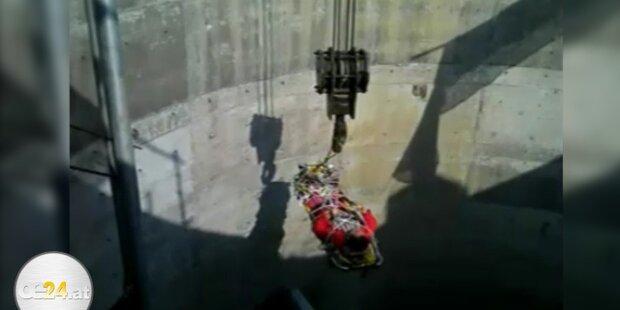 Mann fiel mit seinem Auto 16 Meter tief