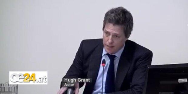 Hugh Grant sagt vor Kommission aus