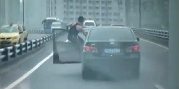 Möchtegern-Stuntman im Straßenverkehr