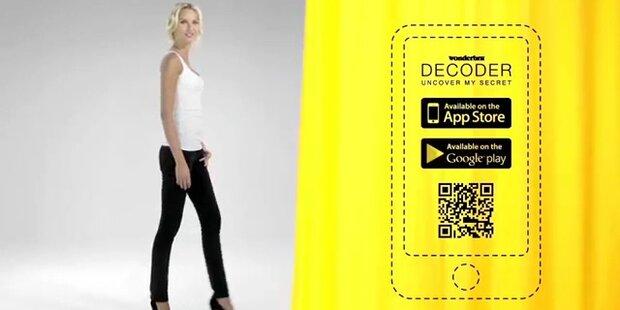 Super-Model mit genialer App ausziehen