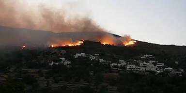 Griechenland: Heftige Waldbrände auf Chios