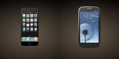 iPhone 5-Studie im Vergleich mit dem Galaxy S3