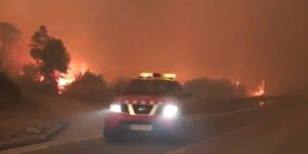 Heftige Waldbrände in Nord-Spanien