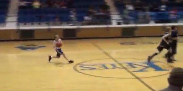 Basketball: 9-Jähriger trifft Korb von Mittellinie
