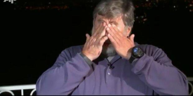 Apple-Mitgründer bricht in Tränen aus