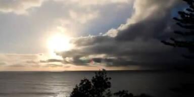 Toller Sonnenaufgang trotz Regenwolken
