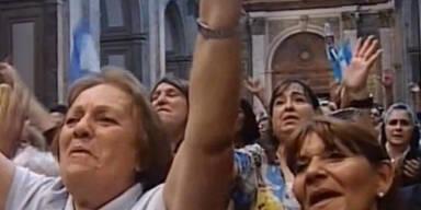 """So feiern die Argentinier ihren """"Papa"""""""