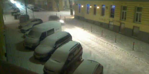 Schnee und extreme Kälte legen Wien lahm