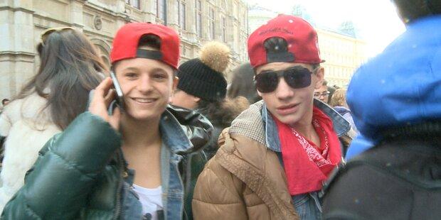 Bieber-Fans belagern Hotel Sacher