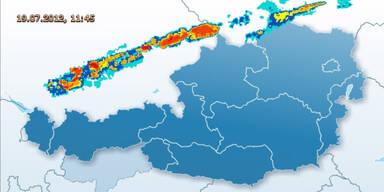 Unwetter-Alarm im ganzen Land