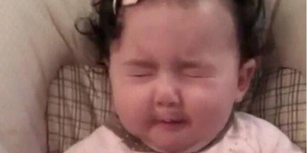 Wenn Babys zum ersten Mal in Zitronen beißen
