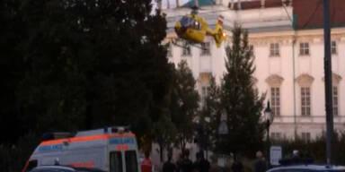 Horror-Sturz von Hotel-Dachterasse